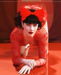 Kneeling red by Lynxander
