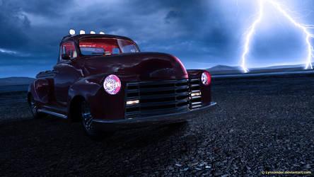Pickup in thunder by Lynxander