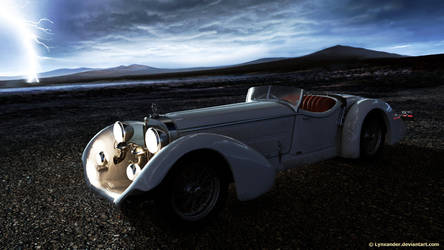 Roadster in thunder by Lynxander