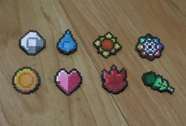 Kanto Pokemon Mini Bead Badges by PracticallyGeeky