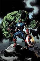 Hulk and Captain by matlopes