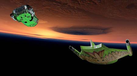 Shuttle Returning Home by Randicus