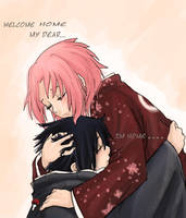 welcome home....sasusaku by Fey-Rayen