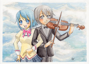 Sayaka and Kamijou by MelfinaCosplay