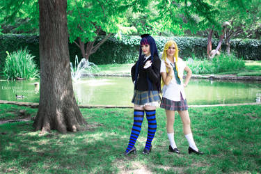 Panty and Stocking School Uniforms by MelfinaCosplay