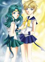 Neptune and Uranus by MelfinaCosplay