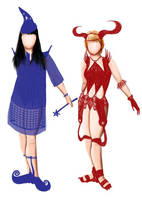 Xena + Gabrielle Crazy Costume by mynando