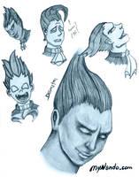 Darkstalkers Demitri Sketches by mynando