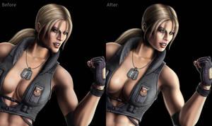 Mortal Kombat 9 Sonya Fix by mynando