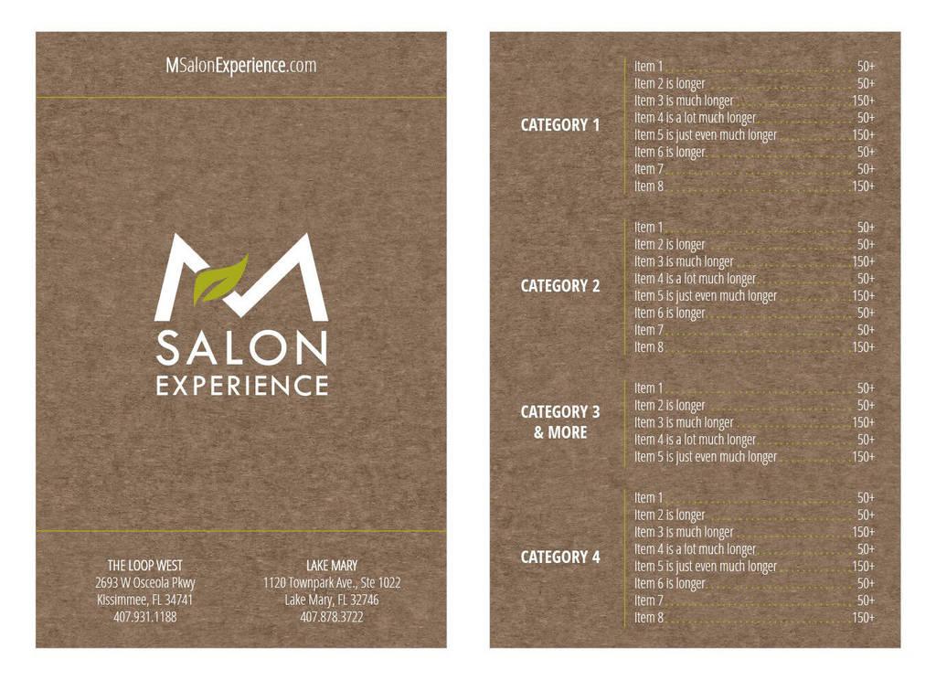 Salon Menu Concept 2 by mynando