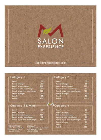 Salon Menu Concept 3 by mynando