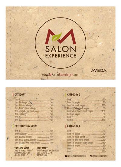 Salon Menu by mynando