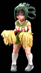 Asui tsuyu cheerlead outfit by lethal234