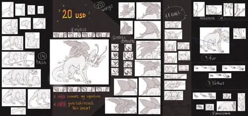 Cat-moth lineart [P2U] OPEN by Keshinami