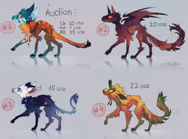 ADOPT PACK #13 colored dragon beasts [ 4/4 CLOSED] by Keshinami