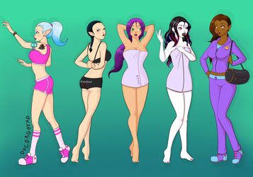Gym Girls by DocBaghead