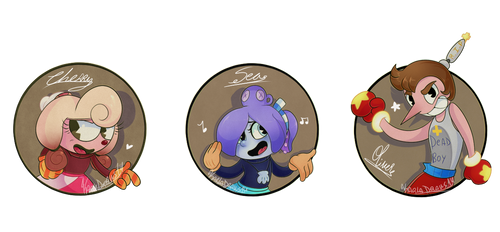 Player 1, Player 2 and 3 by KarlaDraws14