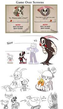 Mr.Bones doodles by KarlaDraws14