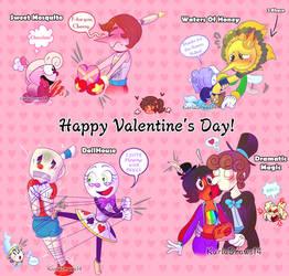 Happy Valentine's Day! - Fanchild Ships by KarlaDraws14