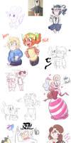 Sketch Dump 2 by KarlaDraws14