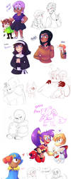 Sketch Dump 3 by KarlaDraws14