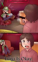 Luigi Is Okay by KarlaDraws14