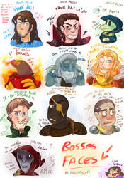 -.Bosses Faces.- by KarlaDraws14