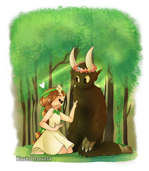 Comm 23 - into the forest by KarlaDraws14