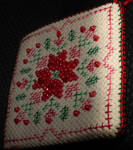 cross stitched ornament exchange finished by KaidaYinThyme