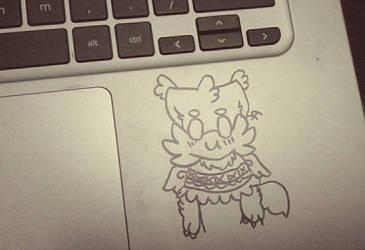 Laptop doodle by TsunamiArtzzz