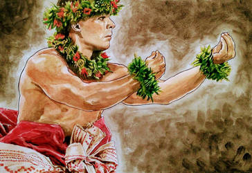 Hula dancer says flower by Tanacase