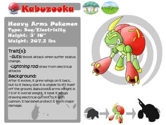 Fakemon: Kabuzooka by Bihumi