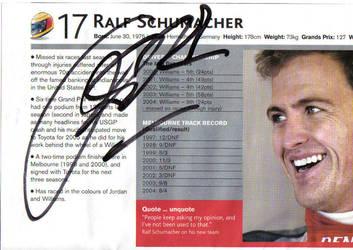 Ralf Schumacher Autograph by NYC55david