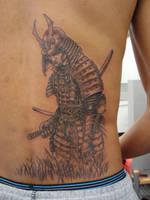 Samurai Warrior Tattoo by evoelf