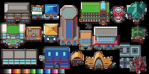 Pokemon Ultra Sun and Moon - Melemele Island Tiles by morlockhater