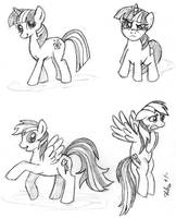 Pony Practice: Twi and Dash by the-gneech