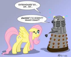MLPFIM: Pony vs. Dalek 1 -- Fluttershy by the-gneech