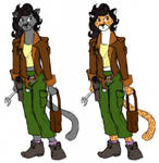 Verity as Furry Development Sketches 1 by the-gneech