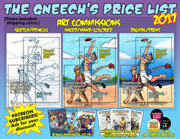 Commission Price Sheet 2017 by the-gneech