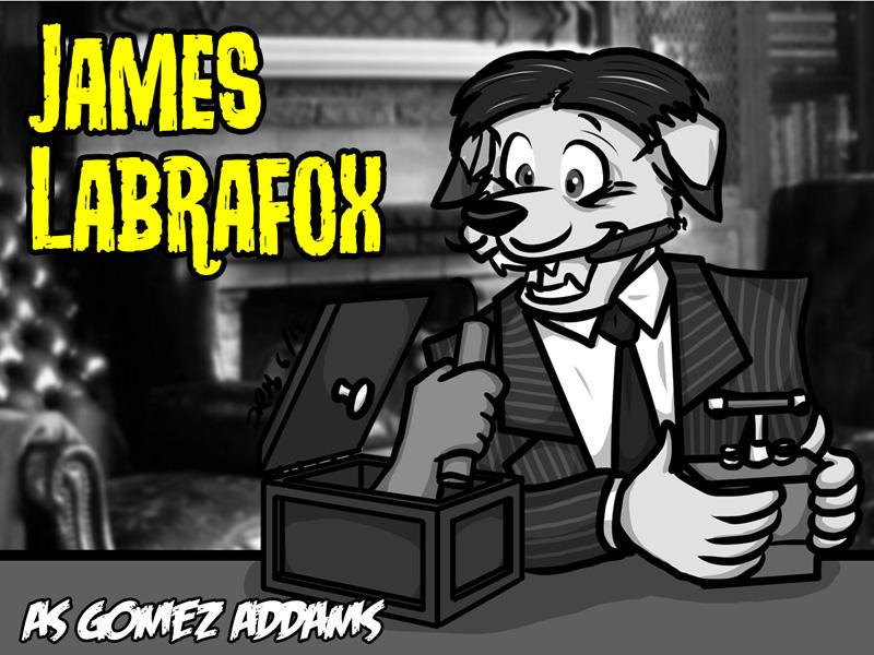 AnthroCon Monster Badge: James Labrafox! by the-gneech