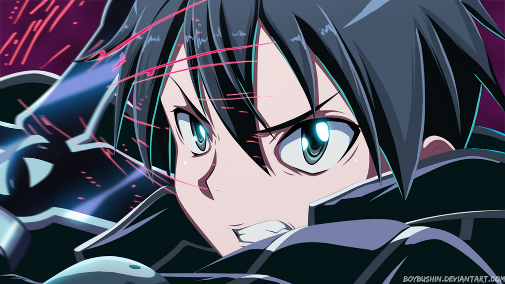 Kirito-Sword Art Online by MilarS