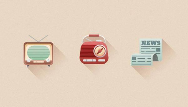 Retro Media Icons by tashamille