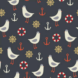 Nautical Life Pattern by tashamille