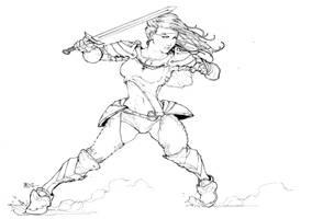 Battle Pose by Harpokrates