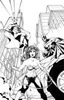 Wonder Woman - Batman - Superman by Harpokrates