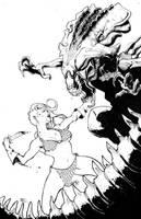 Alien Queen VS. Queen Sonja by Harpokrates