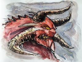 Watercolor Sketch 2 by Harpokrates