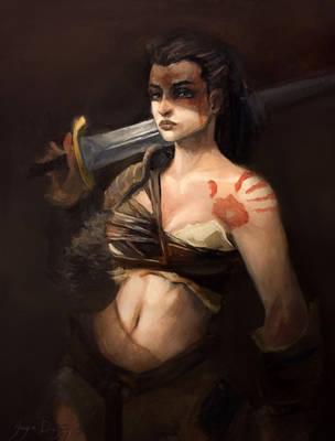 Feral Warrior by Harpokrates