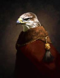Hawk Portrait by Harpokrates