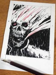 Inktober 'Roasted' Sketch by Harpokrates